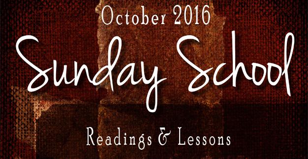 Sunday School: October 2016